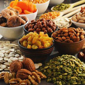 Ядки, сушени плодове и зелечуци